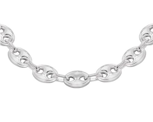 Close Out Deal Italian Sterling Silver Mariner Necklace (Size 22), Silver wt 34.30 Gms.