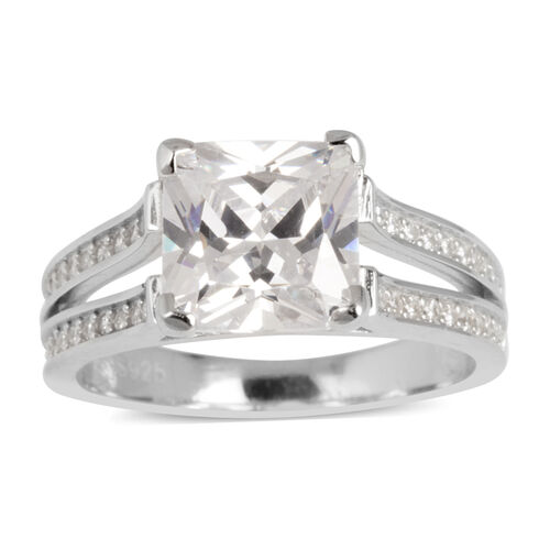 AAA Simulated White Diamond Ring in Sterling Silver 2.500 Ct.