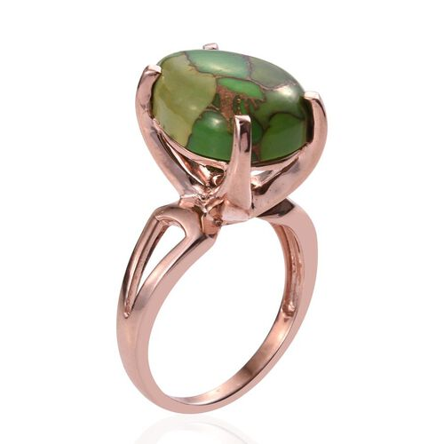 Mojave Turquoise (Pear) Ring in ION Plated 18K Rose Gold Bond 10.000 Ct.