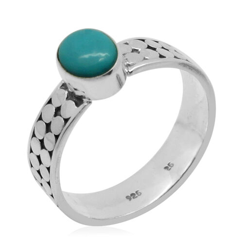 Royal Bali Collection Sonoran Turquoise (Ovl) Ring in Sterling Silver 1.120 Ct.