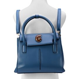 Mermaid Blue Multi-function Ammonite Bag , Adjustable and Removable Shoulder Strap (Size 30x23x9 Cm)