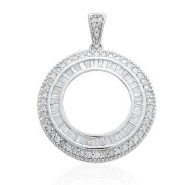 9K W Gold SGL Certified Diamond (Bgt) (I3/G-H) Circle Pendant 1.000 Ct.