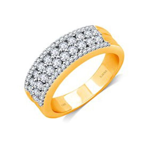 ILIANA Diamond (Clarity SI Colour G-H) 18K Y Gold Ring  1.000 Ct.