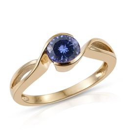 9K Y Gold Tanzanite (Rnd) Solitaire Ring 1.150 Ct.