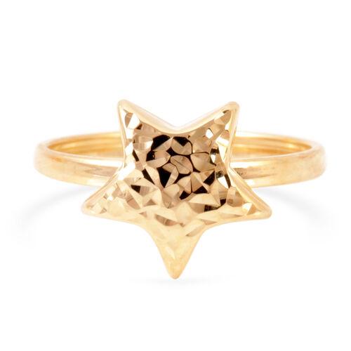 JCK Vegas Collection 9K Yellow Gold Star Ring