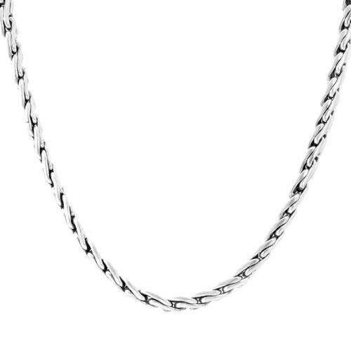 Designer Inspired Sterling Silver Necklace (Size 20), Silver wt 73.10 Gms.