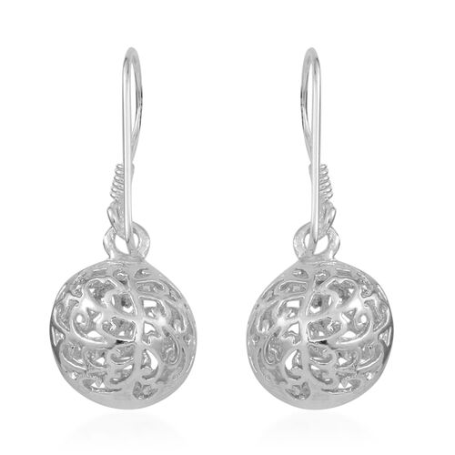 Thai Sterling Silver Filigree Ball Hook Earrings