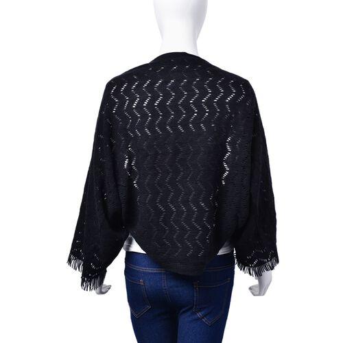 Black Colour Shrugs (Size 130x25 Cm)