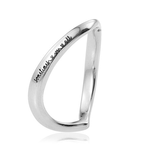 Kimberley  A Wish From Me Collection Platinum Overlay Sterling Silver Wishbone Ring