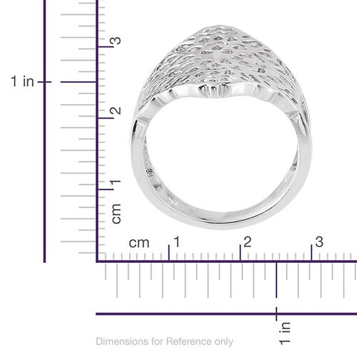 Platinum Overlay Sterling Silver Ring, Silver wt 6.20 Gms.