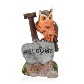 Home Decor - Brown and Orange Colour Decorative Owl