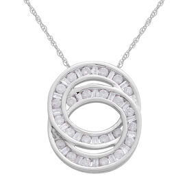 9K W Gold SGL Certified Diamond (Rnd) (I3/ G-H) Circle of Life Pendant With Chain 0.500 Ct.