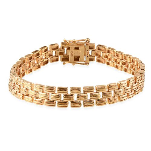 ION Plated 18K Yellow Gold Bond Bracelet (Size 7.5)