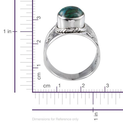 Jewels of India Table Mountain Shadowkite (Ovl) Solitaire Ring in Sterling Silver 3.230 Ct.