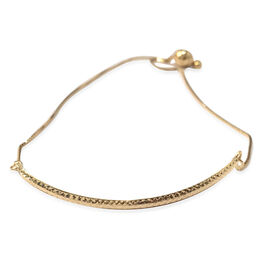 Close Out Deal Italian 9K Y Gold Adjustable Bracelet (Size 7.5), Gold wt 2.10 Gms.