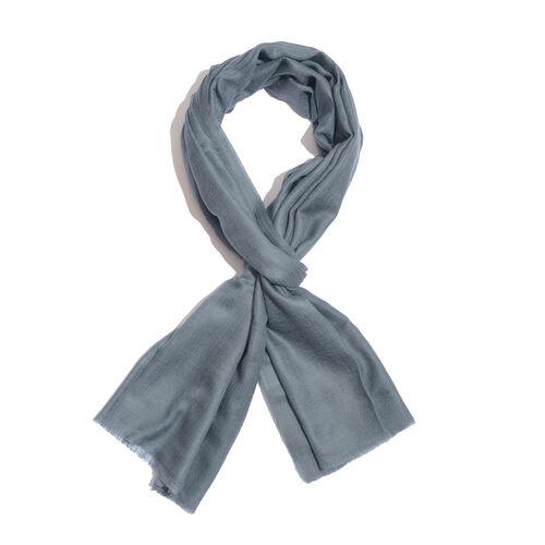 NEW FOR SEASON - 88% Merino Wool and 12% Silk Dark Grey Colour Scarf (Size 200x70 Cm)
