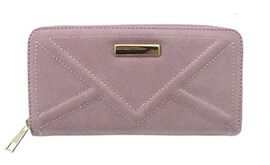 Stella Rose Textured Suede Look Long Wallet (Size 19x10 Cm)