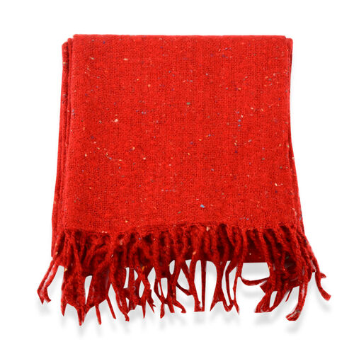Red Colour Scarf (Size 60x190 Cm)