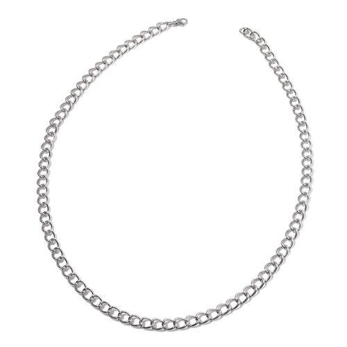 Curb Necklace (Size 30) and Bracelet (Size 8.50) in Stainless Steel