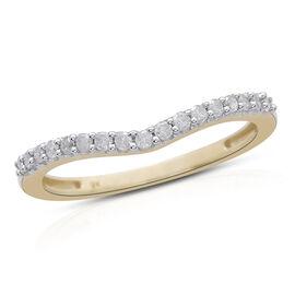 9K Yellow Gold 0.25 Carat Diamond Wishbone Ring SGL Certified I3 G-H.