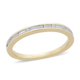 9K Yellow Gold 0.25 Carat Diamond Sleek Half Eternity Ring SGL Certified