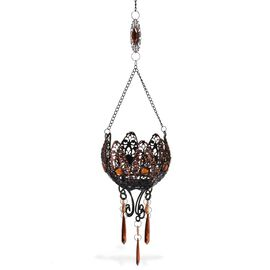 Home Decor - Simulated Brown Stone Hanging Candle Holder