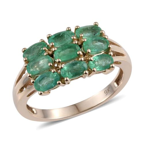 9K Y Gold Boyaca Colombian Emerald (Ovl) Ring 2.000 Ct.
