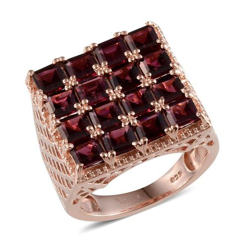 Orissa Rhodolite Garnet (Sqr) Ring in Rose Gold Overlay Sterling Silver 7.500 Ct.