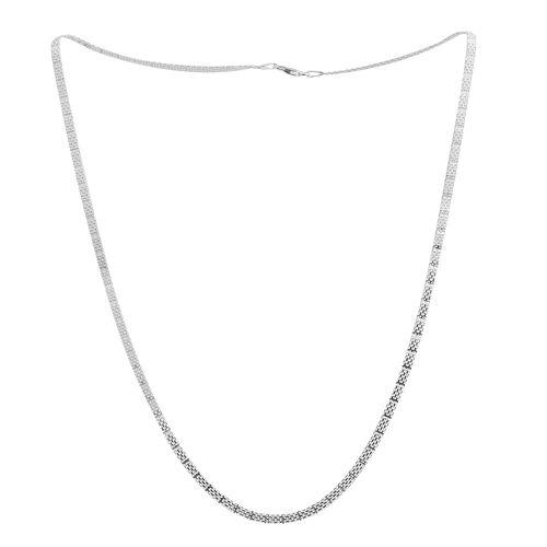 Sterling Silver Bismark Necklace (Size 24), Silver wt 7.50 Gms.