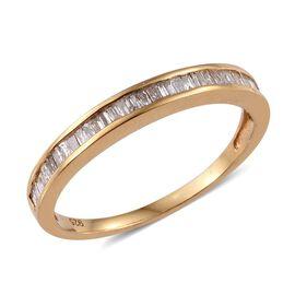 Diamond (Bgt) Half Eternity Band Ring in 14K Gold Overlay Sterling Silver 0.500 Ct.