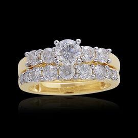 14K Y Gold IGI Certified Diamond (Rnd 0.50 Ct) (I2/ G-H) Ring 1.500 Ct.