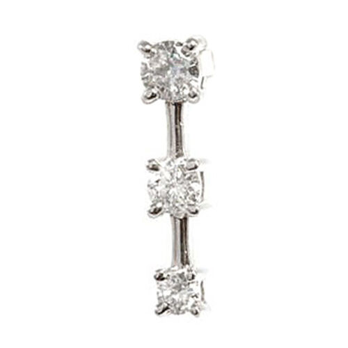 Close Out Deals One Off 14K W Gold Diamond (Rnd) Pendant 0.500 Ct.