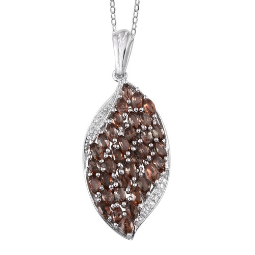 Jenipapo Andalusite (Mrq) Pendant With Chain in Platinum Overlay Sterling Silver 3.250 Ct.