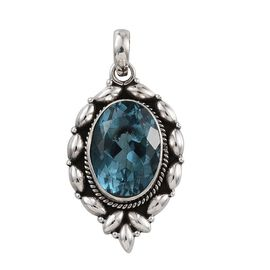 Jewels of India River Quartz (Ovl) Solitaire Pendant in Sterling Silver 14.530 Ct.