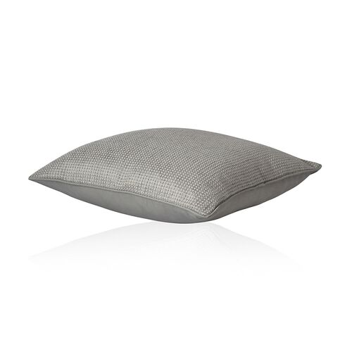 (Option 2) Dotted Pattern Grey Colour Cushion (Size 43x43 Cm)