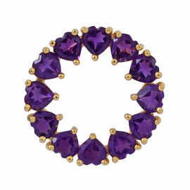 Amethyst (Hrt) Circle of Life Pendant in 14K Gold Overlay Sterling Silver 5.000 Ct.