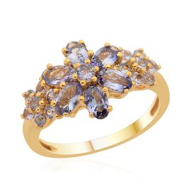Natural Green Tanzanite (Ovl) Ring in 14K Gold Overlay Sterling Silver 2.050 Ct.