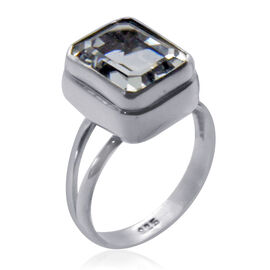 Royal Bali Collection Golconda Diamond Topaz (Cush) Solitaire Ring in Sterling Silver 5.920 Ct.