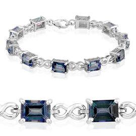 Neptune Garden Coated Topaz (Oct) Bracelet (Size 7) in Platinum Overlay Sterling Silver 21.000 Ct.