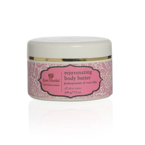EXCLUSIVE TO TJC - Just Herbs Body Butter-Pomogrenate and Rosehips (200g)