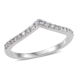 RHAPSODY 950 Platinum 0.250 Carat IGI Certified Diamond (VS/E-F) Wishbone Ring