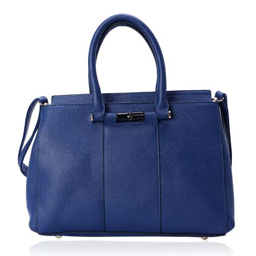 Blue Colour Tote Bag with Adjustable Shoulder Strap (Size 35x24x10 Cm)