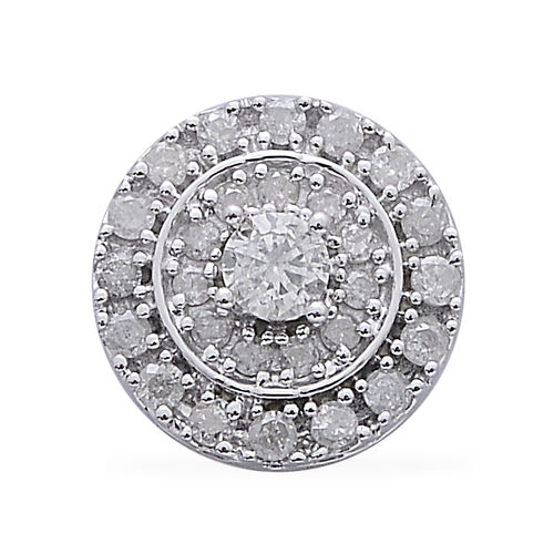 9K W Gold SGL Certified Diamond (Rnd) (I3/G-H) Pendant 0.500 Ct.