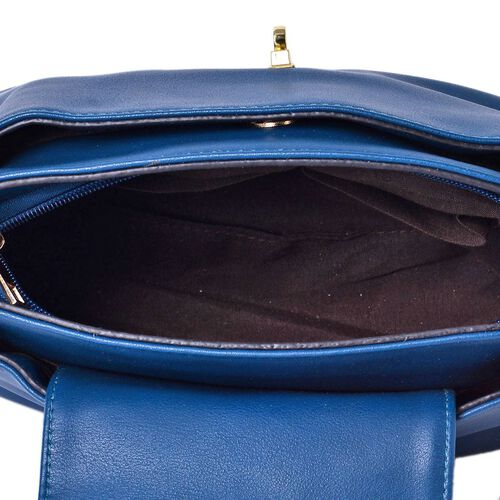 Navy Colour Crossbody Bag with Adjustable and Removable Shoulder Strap (Size 24x18x11 Cm)