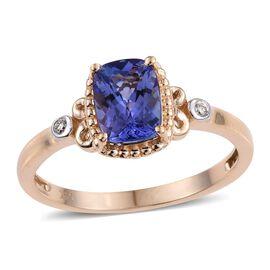 14K Y Gold Tanzanite (Cush 1.50 Ct), Diamond Ring 1.520 Ct.