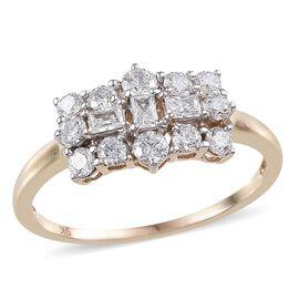 9K Y Gold (Rnd) Ring Made with SWAROVSKI ZIRCONIA 1.060 Ct.