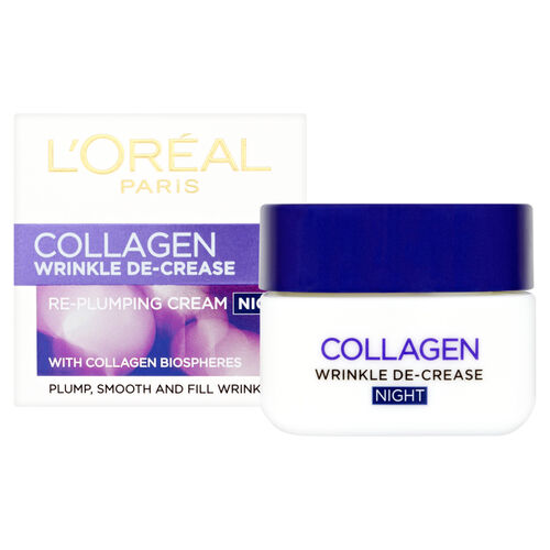 LOreal Paris Wrinkle Decrease Collagen Replumping Night Cream
