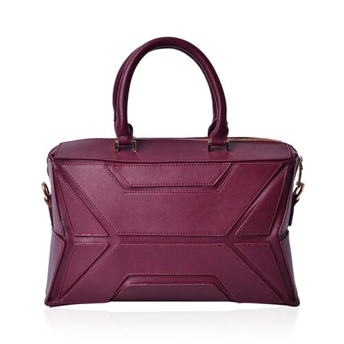 Anissa Burgundy Colour Tote Bag (Size 32x20x17 Cm)
