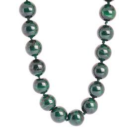 9K Y Gold Malachite (Rnd) Necklace (Size 18) 580.000 Ct.