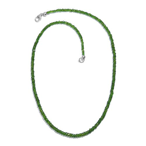 Russian Diopside Necklace (Size 18) in Platinum Overlay Sterling Silver 48.870 Ct.